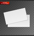 blank business cards on transparent background vector image vector image