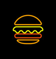burger abstract outline logo template fast vector image