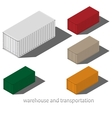 cargo container isolated on white background vector image vector image
