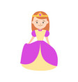 cartoon halloween kid costume fairy princess vector image