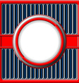 Chrome retro frame vector image vector image