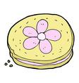 comic cartoon biscuit vector image vector image