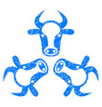 cow trinity icon grunge watermark vector image vector image