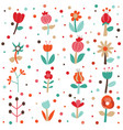 cute flowers set collection vector image vector image