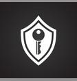 digital security symbol on black background for vector image