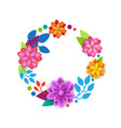 floral wreath spring graphic design element with vector image