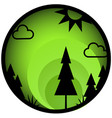 forest button circle icon vector image vector image