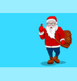 greeting card copy space santa claus hipster in vector image vector image