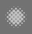grey halftone background vector image
