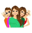 Group of happy young people vector image vector image