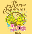 Happy Bananas Design vector image vector image