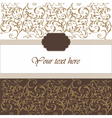 Invitation card with ornaments vector image vector image