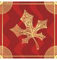 Leaf pattern gold vector image vector image