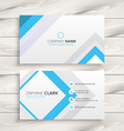 light white business card minimal design vector image vector image
