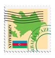 mail to-from Azerbaijan vector image vector image