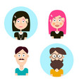 man and woman avatars people characters men and vector image vector image