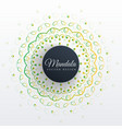 mandala art design background vector image vector image