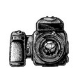 medium format camera vector image vector image