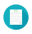 memorandum of understanding mou vector image vector image