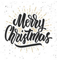 merry christmas design element for poster card vector image