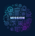 mission colored linear round modern vector image vector image