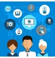 Mobile Device Communication Concept vector image