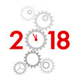 new year 2018 concept vector image