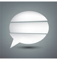 Paper white separated speech bubble vector image vector image