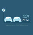 parking zone blue background vector image vector image
