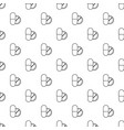 pill and tablet pattern seamless vector image