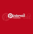 pinterest logo background image vector image vector image