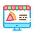 pizza site order icon outline vector image vector image