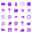 post gradient icons on white background vector image