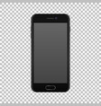 realistic smartphone icon isolated on transparent vector image vector image