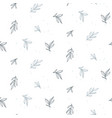 seamless foliage pattern with tiny leaves hand vector image vector image