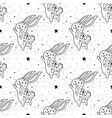 seamless pattern mystical rabbit with moon and vector image
