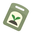 seed pack icon flat style vector image