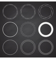 set 9 circle summer frames borders vector image vector image
