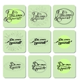 Set handwritten words BE OUR GUEST vector image vector image