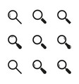 set magnifying glasses vector image