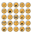 Set of emoticons flat characters icons vector image vector image