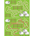 Sheep maze vector image vector image