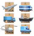 Shipment Icons vector image vector image