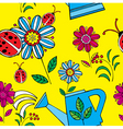 summer floral print pattern vector image vector image