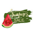 summer sale greeting banner vector image