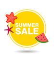 summer sale in circle with icons vector image vector image