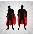 Superhero design Superman icon Costume vector image vector image