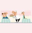 two different men in restaurant vector image vector image
