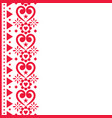 valentines day greeting card pattern vector image vector image