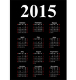 vertical calendar for 2015 vector image